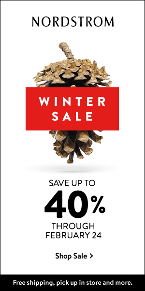 SAVE up to 40% at the NORDSTROM Winter Sale! Free shipping, pick up in store and more.