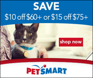 Save $10 off $60+ or $15 off $75+ and Free Shipping on $49+ at PetSmart! Valid 7/25-7/27.