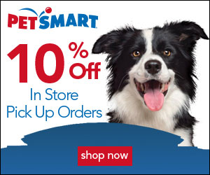 Save 10% When You Buy Online at Petsmart and Pick Up in Store 8/1 – 8/4!