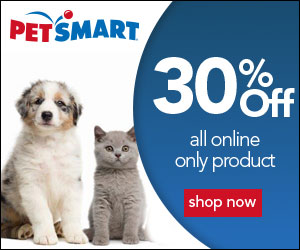 30% Off All Online Only Product at PetSmart! Offer Valid 9/14 – 9/15