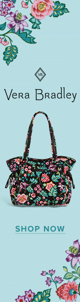 Buy vera bradley beach cosmetic in go fish teal at Vera Bradley Designs Inc.