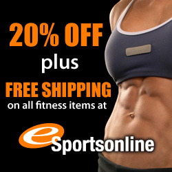 20% Off + Free Shipping on all Fitness Items Now