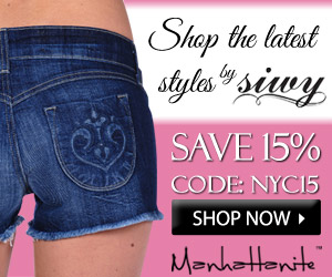 Shop the Latest Styles by Siwy at ShopManhattanite.com! Save 15%, Use Code: NYC15, Shop Now!