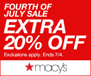 4th of July Sale: Extra 20% off all Select Items