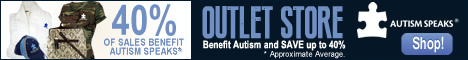 Save BIG - Shop the Autism Speaks Outlet Store! Outlet items are discounted up to 40%! Shop now and save!