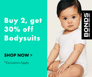 Bonds bodysuits are quick and easy to whip on and off. Buy 2 and Save 30% online now!