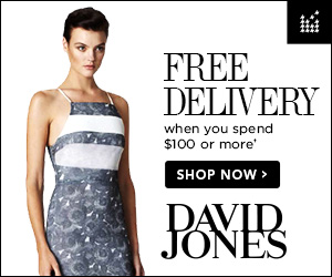 Free Delivery when you spend $50 or more at David Jones.