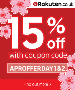 Spend £5 get 15% off with code APROFFERDAY1&2