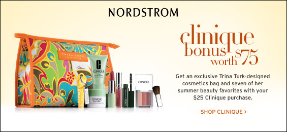 NORDSTROM.com - Clinique Bonus worth $75 with $25 Clinique purchase