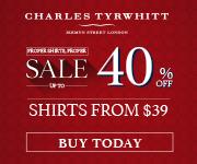 Charles Tyrwhitt - End of Season Sale - 180x150
