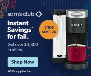 Deals on Sam's Club Instant Savings for Fall Sale!