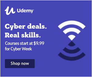 Cyber deals. Real skills. Courses start at $9.99 for Cyber Week