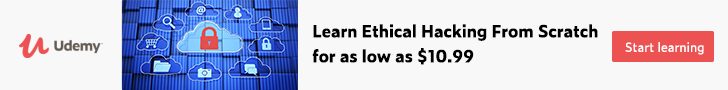 *Learn Ethical Hacking From Scratch for as low as $10.99.