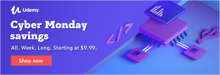 Shop smart. Get smarter. Courses as low as $9.99 for Cyber Week