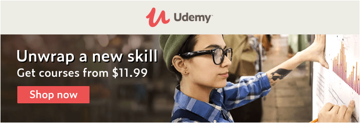 Tis the season for learning. Courses start at $11.99