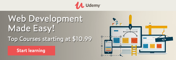 Web Development Made Easy! Top Courses starting at $10.99