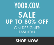 80% Off Sale at YOOX! Limited Time Only.