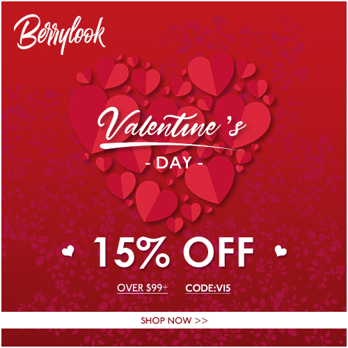 Berrylook Valentine's Day 2021 Berrylook SITEWIDE! 15% Off Your Purchase of $99+ CODE: V15